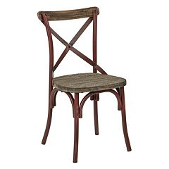 OSP Designs Somerset X Back Antique Metal Dining Chair