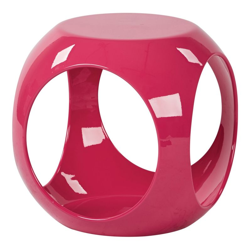 Ave Six Slick End Table, Pink