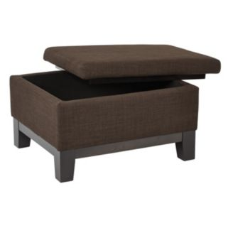 Ave Six Regent Upholstered Storage Ottoman with Reversible Tray
