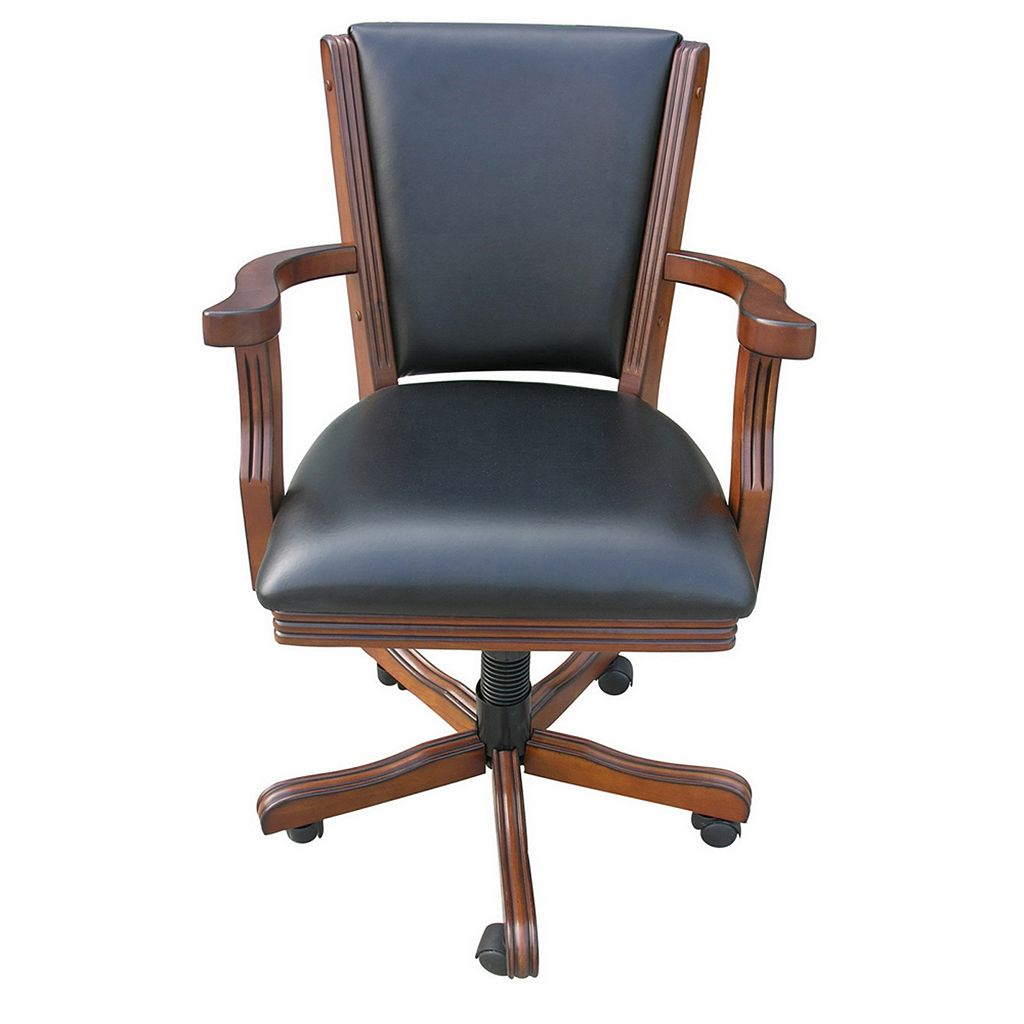 Hathaway Kingston 4-pc. Walnut Poker Table Arm Chair Set