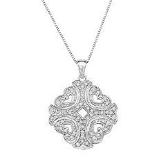 Sterling Silver 1/3 Carat T.W. Diamond Pendant