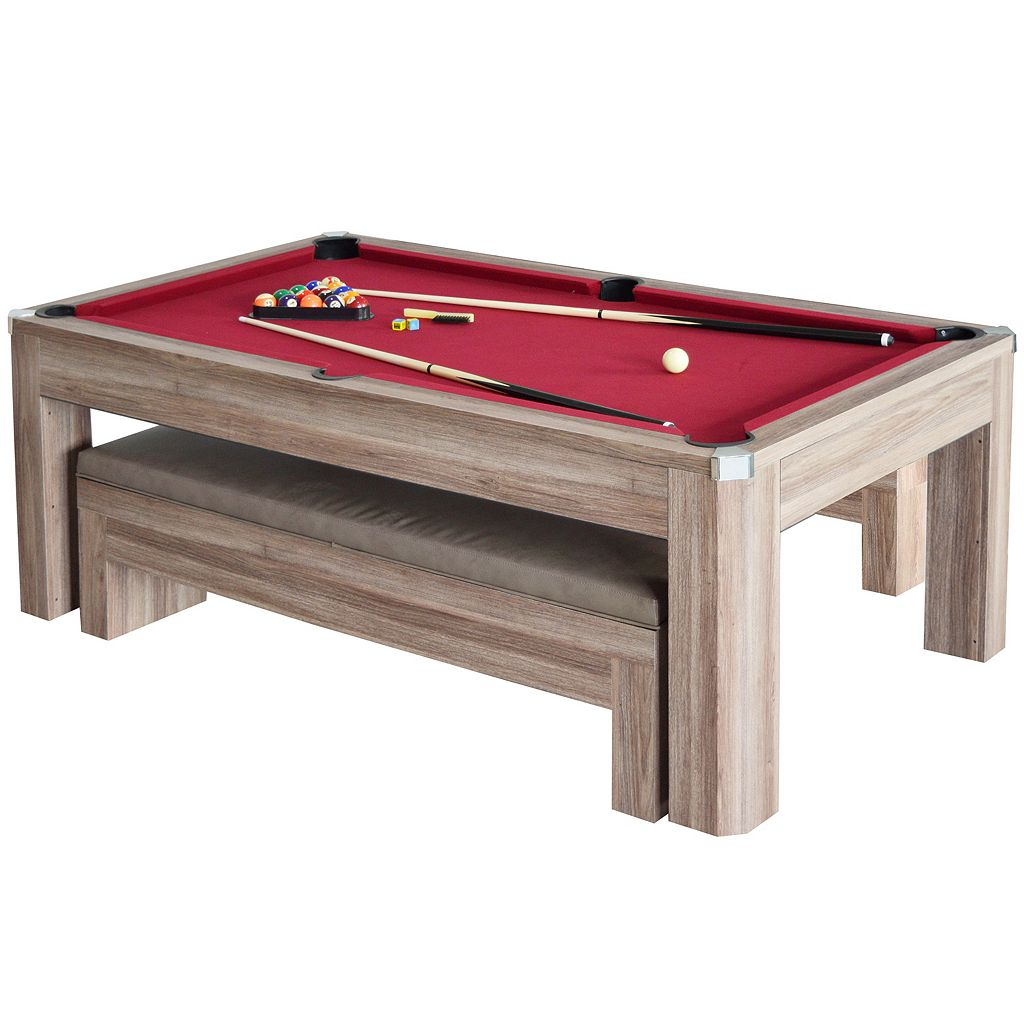 Hathaway Newport 7-ft. Pool Table Combo Set & Benches