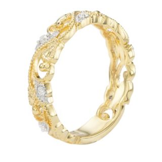 Sterling Silver 1/10 Carat T.W. Diamond Ring