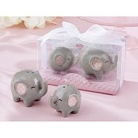 Kate Aspen Little Peanut 2 pc Ceramic Elephant Salt & Pepper Shakers