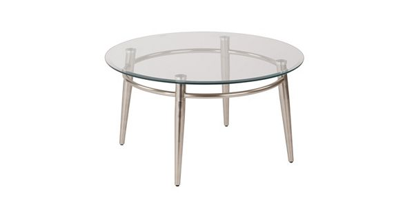 Osp designs round metal glass coffee table for Table design using jsp