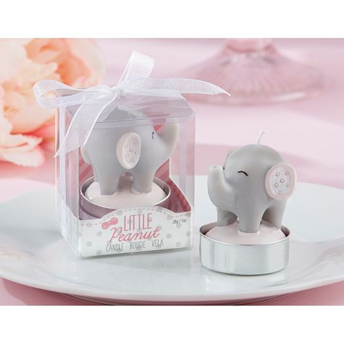 Kate Aspen Little Peanut 4-pk. Elephant Candles