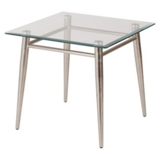 OSP Designs 20-in. Square Metal & Glass End Table