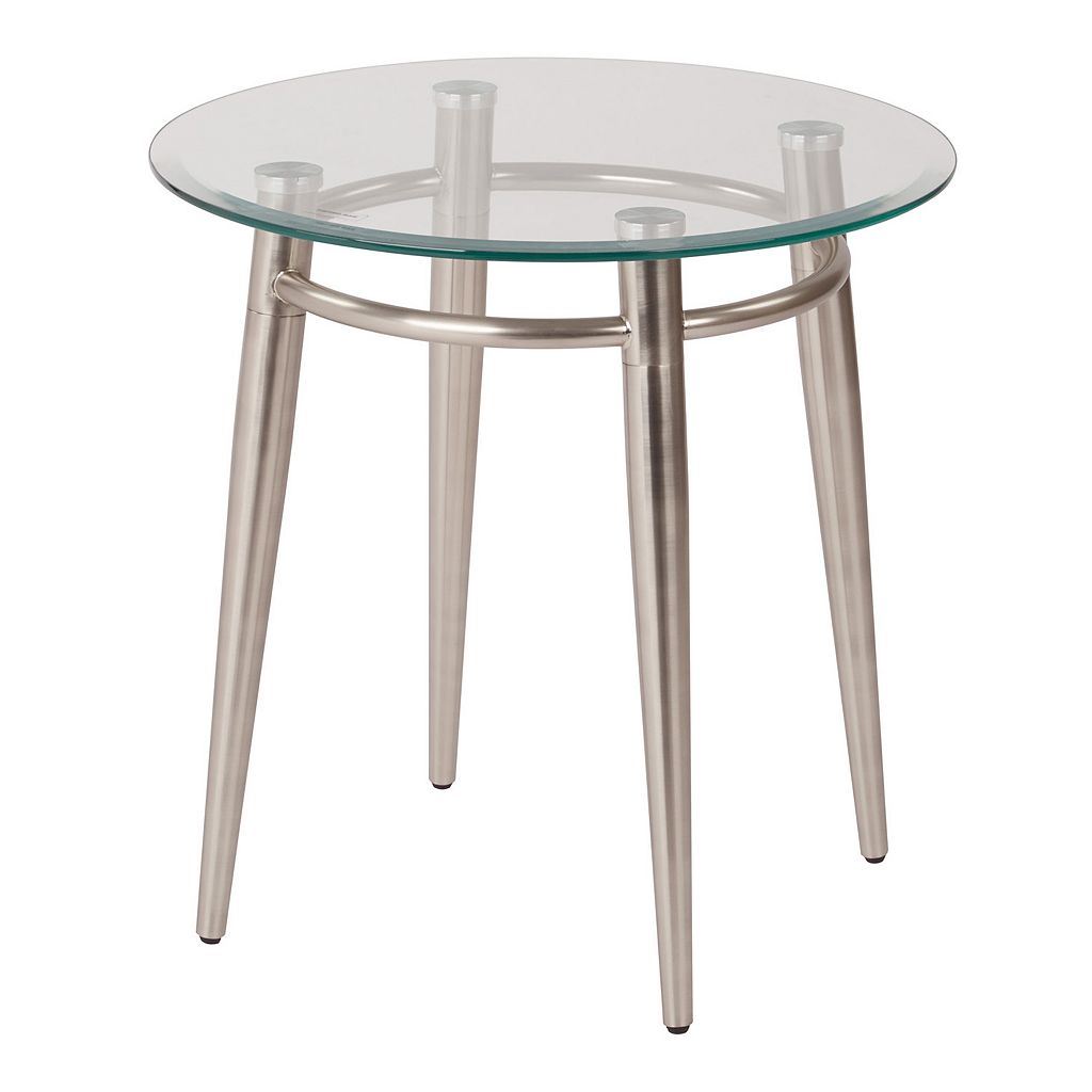 OSP Designs 20-in. Round Metal & Glass Coffee Table