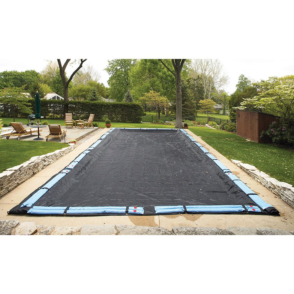 Blue Wave Rugged Mesh Rectangular In-Ground Winter Pool Cover for 25-ft. x 45-ft. Pool