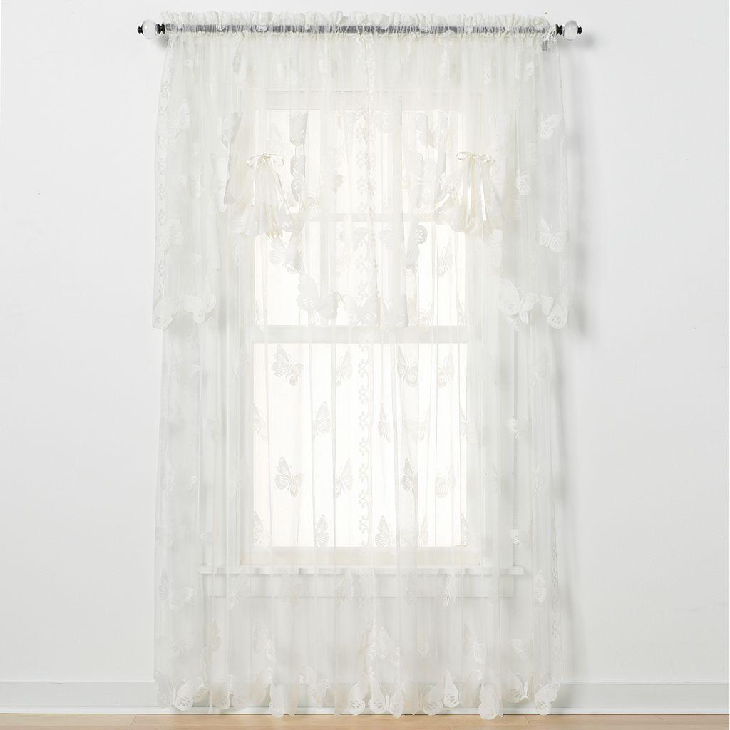 Butterfly Lace Window Panel