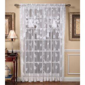 Butterfly Lace 1-Panel Window Panel
