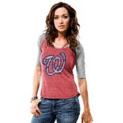 Women's Majestic Washington Nationals Athletic Greatness Tee
