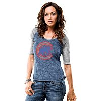 Women's Majestic Chicago Cubs Athletic Greatness Tee