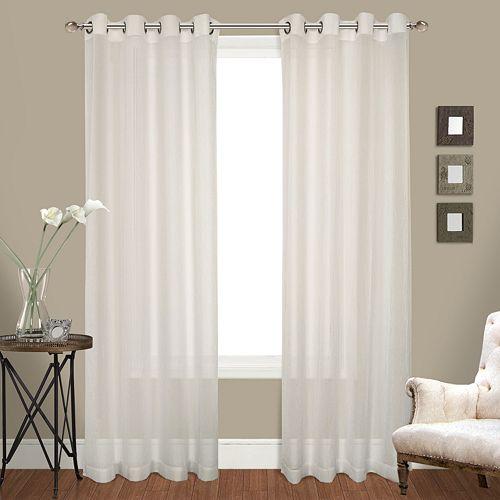 United Curtain Co. 2-pack Venetian Window Curtain