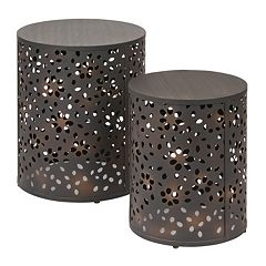 OSP Designs Middleton 2 pc Round Accent Table Set
