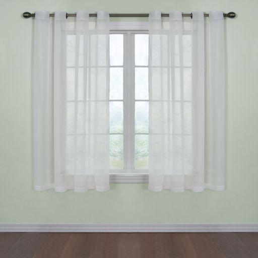 Arm and Hammer Window CurtainFresh Odor-Neutralizing Voile Window Curtain