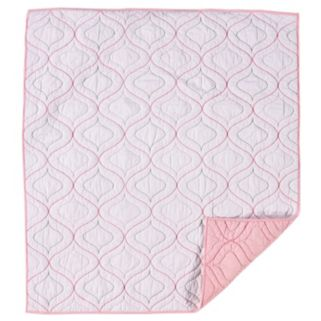 Living Textiles Baby Reversible Poplin Quilted Comforter