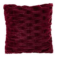 Madison Park Ruched Faux Fur Throw Pillow