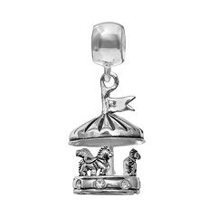 Individuality Beads Crystal Sterling Silver Carousel Charm