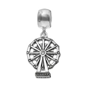 Individuality Beads Crystal Sterling Silver Ferris Wheel Charm