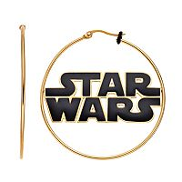 Star Wars Stainless Steel Logo Hoop Earrings