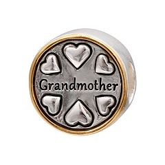 Individuality Beads Sterling Silver & 14k Gold Over Silver 'Grandmother' Bead