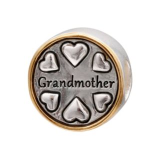 "Individuality Beads Sterling Silver & 14k Gold Over Silver ""Grandmother"" Bead"