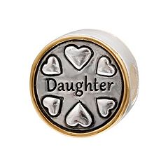Individuality Beads Sterling Silver & 14k Gold Over Silver 'Daughter' Bead