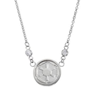 Star Wars Stainless Steel Crystal Imperial Symbol Necklace