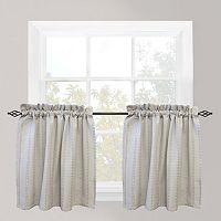Park B. Smith Eyelet Chambray Tier Window Curtain Set