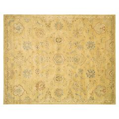 Nourison Jaipur Traditional Light Gold Framed Floral Wool Rug