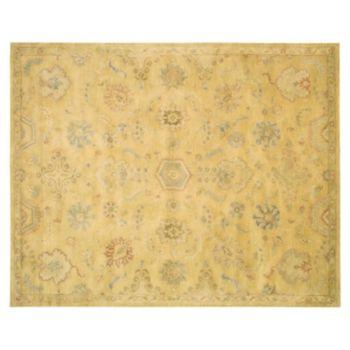 Nourison Jaipur Traditional Light Gold Framed Floral Wool Rug