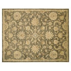 Nourison Jaipur Traditional Framed Floral Wool Rug