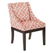Ave Six Easy-Care Velvet Wingback Monarch Chair