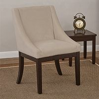 Ave Six Easy-Care Velvet Wingback Monarch Chair