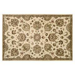 Nourison Jaipur Traditional Ivory Framed Floral Wool Rug