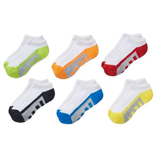 Boys Tek Gear® 6-pack No-Show Performance Socks