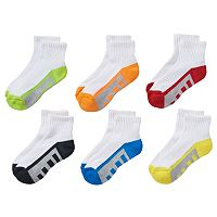 Boys Tek Gear® 6-pack Quarter Performance Socks