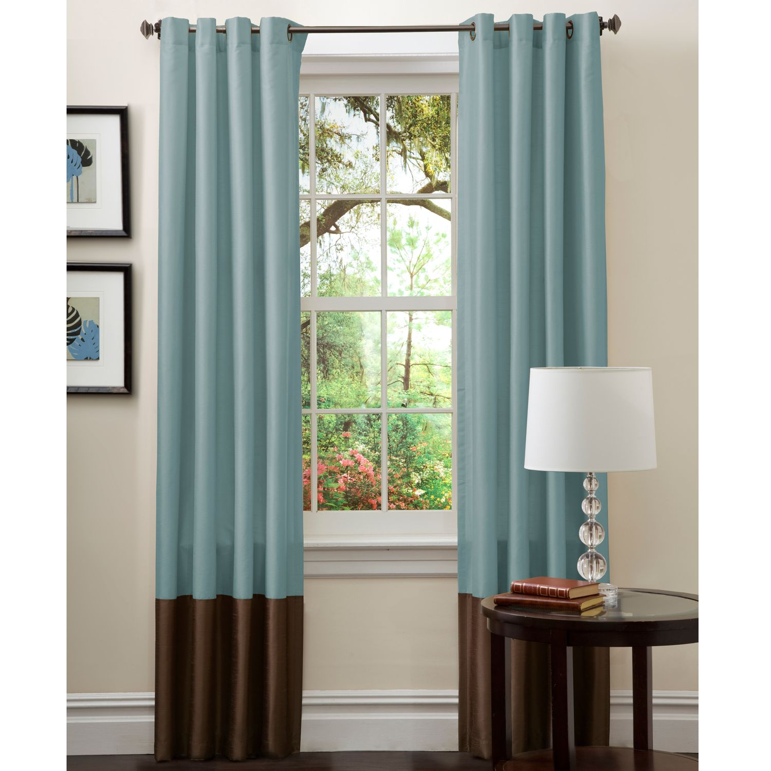 lush decor serena window curtain by lush decor curtains flower drops federal blue and white shower