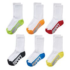 Boys Tek Gear® 6-pack Crew Performance Socks