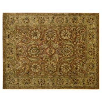 Nourison Jaipur Framed Rust Floral Wool Rug