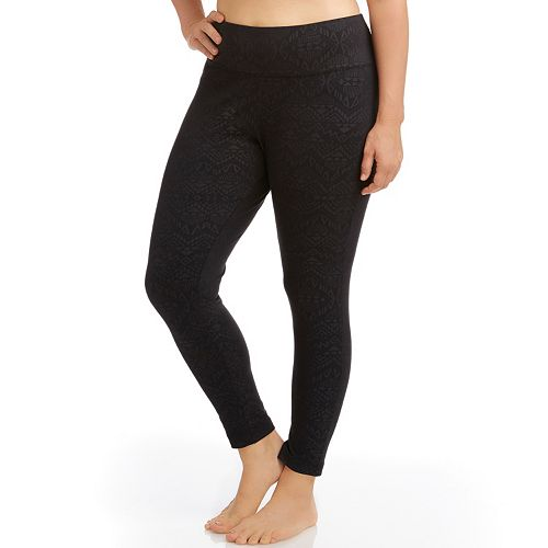 667830c6f1cc3 Plus Size Marika Balance Collection Embossed Flat Waist Yoga Leggings