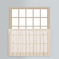 United Curtain Co. Rochelle Lace Tier Kitchen Window Curtain Set