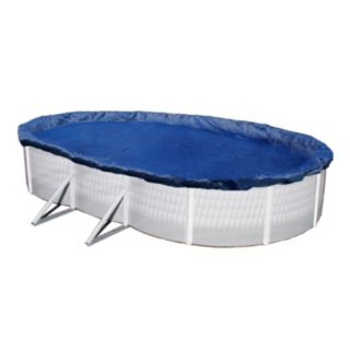 Blue Wave Gold-Grade Oval Above-Ground Winter Pool Cover for 16-ft. x 28-ft. Pool