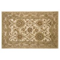 Nourison Jaipur Framed Ivory Floral Wool Rug
