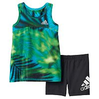 Toddler Girl adidas Mosaic Tank Top & Shorts Set