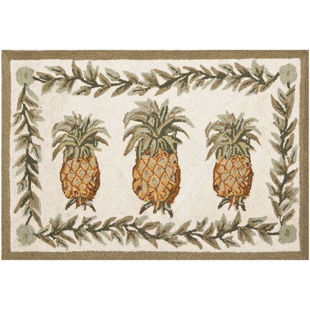 Safavieh Chelsea Tropical Pineapple Hand Hooked Wool Rug - 2'6'' x 5'