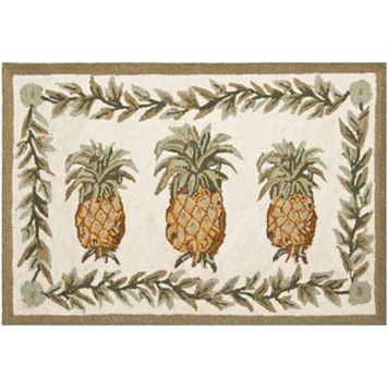 Safavieh Chelsea Tropical Pineapple Hand Hooked Wool Rug - 2'6'' x 5'