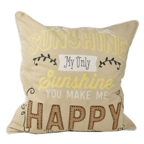 ''You are my Sunshine'' Throw Pillow