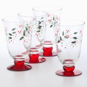 Pfaltzgraff 4-pc. Winterberry Goblet Set